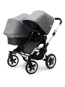 Bugaboo 2015 Donkey Duo Stroller Complete Set in Aluminum an