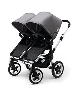 Bugaboo 2015 Donkey Twin Stroller Complete Set in Aluminum a