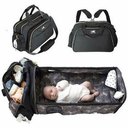 3 in 1 Diaper Bag Backpack with Diaper Changing Pad and Port