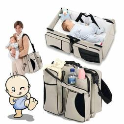 3 in 1 Diaper Tote Bag Travel Bassinet Nappy Changing Statio