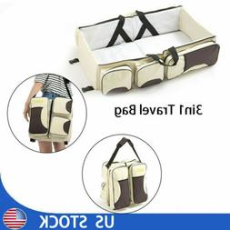 3 in 1 Portable Fold Infant Baby Bed Bassinet Diaper Changin