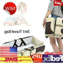 3in1 Carrycot Baby Bed  Diaper Tote Bag Changing Station Tra