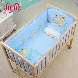 6Pcs 120*65cm Cotton Baby Crib <font><b>Bedding</b></font> S