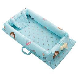 90*50*15cm Foldable Sleeping Crib Bed Portable Crib <font><b