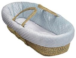 Baby Doll Bedding Heavenly Soft Moses Basket, Blue