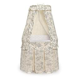 Durable Badger Basket Majesty Baby Bassinet with Canopy Blac