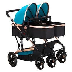 Frjjthchy Abreast Ultralight Double Stroller Baby Twins Stro