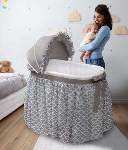 Baby Bassinet Cradle Newborn Crib Oval Nursery Furniture Sle