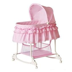 Baby Bassinet Crib Cradle Newborn Furniture Nursery Girl Cas