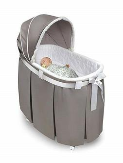 Baby Bassinet Crib Cradle Newborn Oval Nursery Furniture Chi