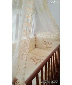 Baby Bedding Set, Ivory , 7 pieces, Canopy, Very Beautiful