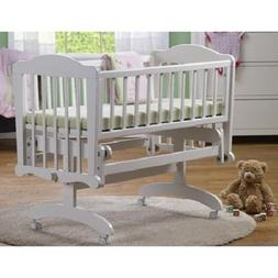 Baby Cradle Bassinet Bed Nursery Furniture Girl White Espres