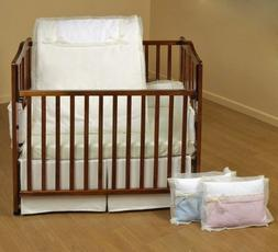 Baby Doll Bedding Classic Bows Cradle Set, Blue
