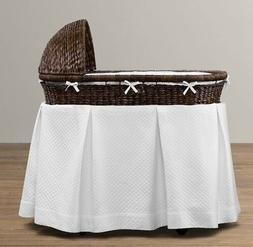 RESTORATION HARDWARE BABY- Heirloom Seagrass Bassinet & Matt