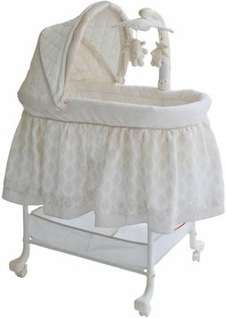 Baby Infant Gliding Bassinet With Storage Bin