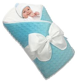 Bundlebee Baby Minky Wrap/Swaddle/Blanket - Built-in Organic