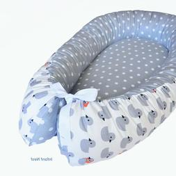 Baby Nest Bed Gray for Newborn Snuggle Sleeper Co Portable C