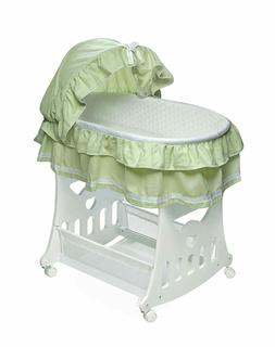 Badger Basket Baby Portable Bassinet N Cradle with Toy box B