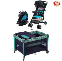 Baby Stroller Travel System with Car Seat & Playard Bassinet