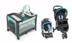 Baby Trend Stroller with Car Seat Nursery Playard Travel Sys