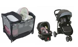 Graco Baby Stroller with Car Seat Play yard Bassinet Travel