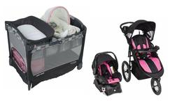 Baby Stroller with Infant Car Seat Playard Bassinet Travel S