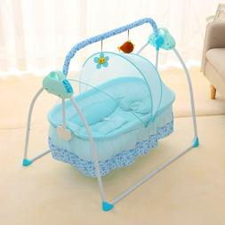 Baby Swing Bassinet Cradle Electric Rocking Swing Bed Infant
