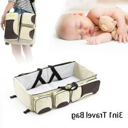 Baby Travel 3 in 1 Portable Bassinet Cot Mummy Travel Bag Di
