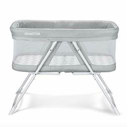 Bassinet 2in1 Rocking One-Second Fold Travel Crib Portable N