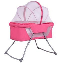 Costzon Baby Bassinet, Lightweight Foldable Rocking Bed with