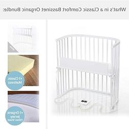 babybay Bassinet Classic Comfort Organic Bundle in Pure Whit