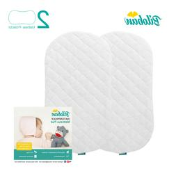 Bamboo Bassinet Mattress Pad Cover Fits for Halo Bassinest 2