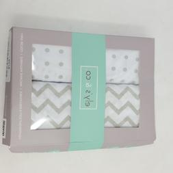 Bassinet Sheet Set 2 Pack 100% Jersey Cotton for Baby Girl b