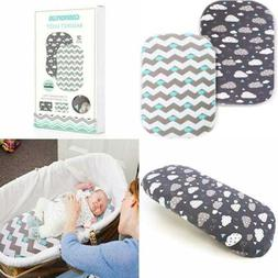 Bassinet Sheet Set 2 Pack Stretch Fitted Cradle Sheets For P