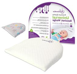 Waterproof Layer /& Handcrafted Cotton Removable Cover 12-degree Incline Reflux Reducer and Nasal Congestion Reducer Zazalandia Bassinet Wedge Third Printed Cover with Owls Pregnancy Pillow