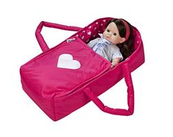 Doll Travel Bed Carrycot Carrier and Bassinet Fits 18 Inch A
