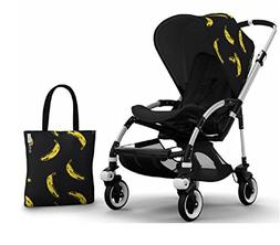 Bugaboo Bee 3 Stroller With Black Seat and Andy Warhol Acces