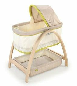 Summer Infant Bentwood Bassinet with Motion, Baby Time