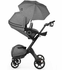 Stokke Black V5 / Chassis With Complete Stroller Seat, Paras