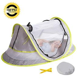 MinGz Large Baby Travel Tent, Portable Baby Travel Bed UPF 5