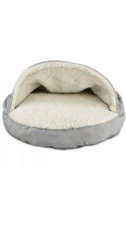 "Harmony Canopy Cat Bed in Grey, 19"" L x 19"" W"