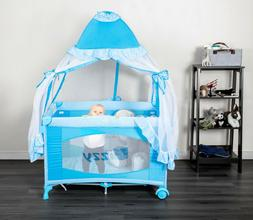 Fizzy Canopy Play Pen Infant-Toddler Foldable Cradle Bassine