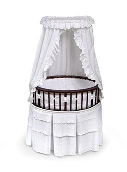 Cherry Elite??? Oval Bassinet with White Eyelet Bedding
