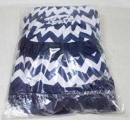 aBaby Chevron Short Bassinet Skirt, Navy, Small-NEW CONDITIO