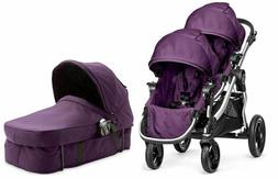 Baby Jogger City Select Twin Double Stroller Amethyst w Seco