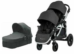 Baby Jogger City Select Twin Double Stroller Jet w/ Second S