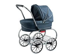 Classic Bassinet Doll Stroller by Valco Baby Denim Blue