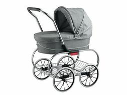 Classic Bassinet Doll Stroller by Valco Baby  Grey Marle