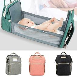 Diaper Backpack With Baby Bed Bag with ExpandableTravel Chan
