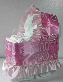Diaper Cake Beautiful Bassinet Carriage Baby Shower Gift for